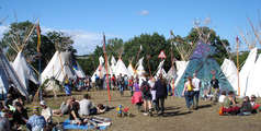 Glastonbury Tipi Field